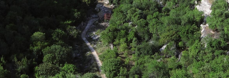 Cava d'Ispica dall'alto