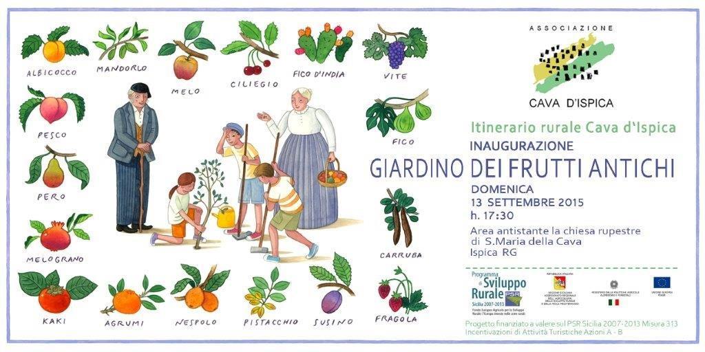 Invito GIARDINO frutti antichi Associazione Cava d'Ispica